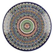 Ляган Риштанская Керамика 42 см. плоский, синий