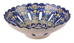 Фруктовница Риштанская Керамика 25 см, микс